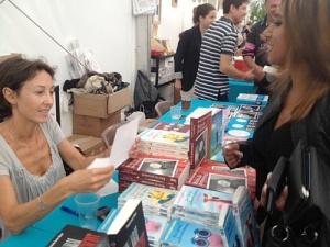 Agathe Colombier Hochberg au salon du livre de Nancy recevant nos questions