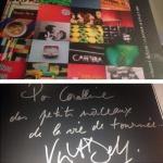 Montage photo de la pochette du DVD dédicacé de la tournée 2009 de Vincent Delerm