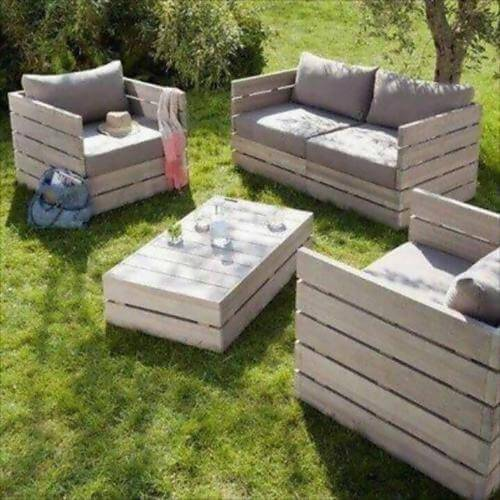 11 id es de mobilier de jardin en palettes. Black Bedroom Furniture Sets. Home Design Ideas
